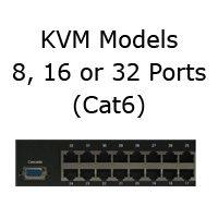 KVM Models with Cat6 Ports