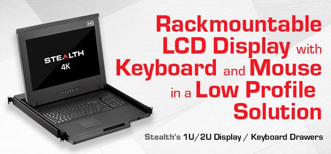 1U LCD Monitor / Keyboard 1U Rack Drawers